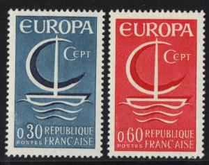 France 1966  MNH  Europa  complete