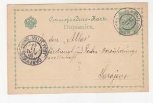 BOSNIA & HERZEGOVINA, Postal Card, 1903 5h., PRNJAVOR to Sarajevo.