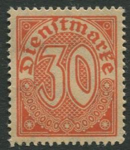 GERMANY. -Scott O6 - Officials -1920 - MLH - Single 30pf Stamp