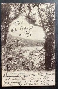 1907 Fiji Real Picture postcard Cover RPPC To Sydney Australia Lake Lanato