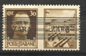 German Occupation Zara, Mi. 36 IV, MNH, (Navy), exp. Ludin, BPP