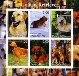Tadjikistan 2000 Dogs Golden Retriever Sheet Perforated mnh.vf