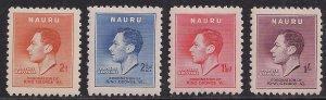 Nauru 1937 KGV1 Set Coronation MM SG 44 - 47 ( R702 )