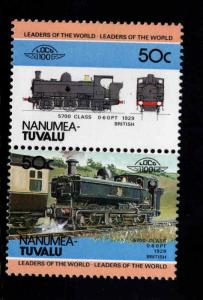 Nanumea-TUVALU Scott 7 MNH** Train pair