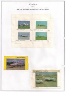 SCOTLAND - STAFFA - 1982 - Military Jets #3 - Perf 4v, Souv, D/L Sheets -MLH