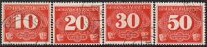 Stamp Germany Poland General Gov't Mi P01-4 1940 WWII 3rd Reich Porto Used
