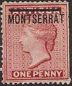 Montserrat - 1 - Unused-HR - no gum - SCV-27.50