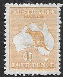 Australia 6   1913  4d FVF  Unused