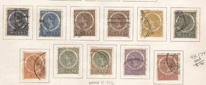 Netherlands Indies #48-57a Used
