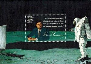 Sierra Leone MNH S/S 1004 John F. Kennedy & Moon Landing