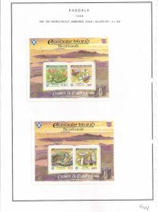 SCOTLAND - EASDALE - 1998 - Scouts Jamboree Silver o/p -  Perf 2 S/Sheets - MLH
