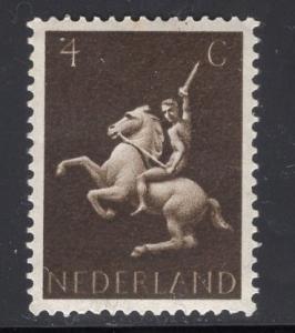 Netherlands  #250  1943  MNH  4c  man on horseback