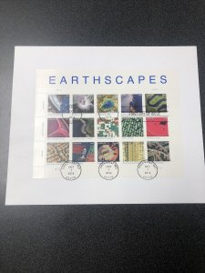 US 4710 Aerial Views Of Earth Souvenir Page First Day Of Issue On Cover