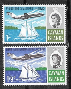 Cayman Is. # 191-92  Airport Jet Service      (2)    Mint NH