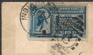 Doyle's_Stamps: 1889 Indianapolis Spec Delivery Cover, Scott #E1, Postal History
