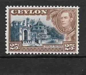 CEYLON 1938-49   25c   KGVI  PICTORIAL   MLH   SG 392