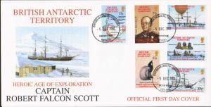 British Antarctic Territory Scott 301-306 Unaddressed.