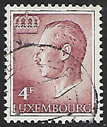 Luxembourg # 426 - Grand Duke Jean - 4F - used...(KlGr)
