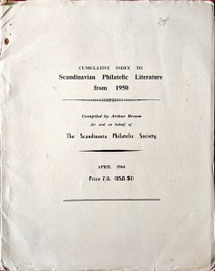 1964 Cumulative Index to SCANDINAVIAN PHILATELIC LITERATURE From 1950