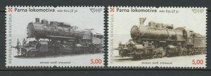 Croatia 2008 Trains Locomotives / Railroads 2 MNH stamps