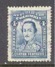 Colombia Sc # 400 used (DT)