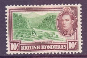 Br Honduras Scott 120 - SG155, 1938 George VI 10c MH*