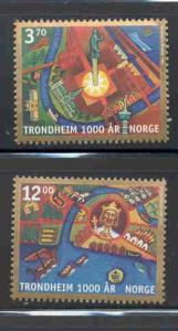 Norway Sc 1168-9 1997 Trondheim Millenium stamp set