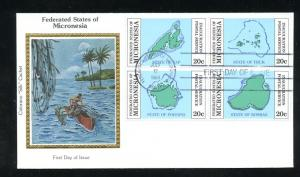 Micronesia Postal Service Inauguration Colorano Silk Cachet