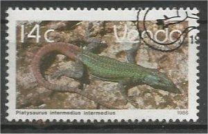 VENDA, 1986, CTO 14c, Reptiles Scott 138