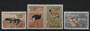 ALGERIA, (4) SET, 374-377, MNH, 1967, Animal type