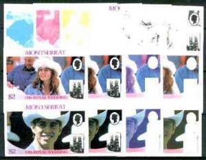 Montserrat 1986 Royal Wedding $2 se-tenant pair (Fergie &...
