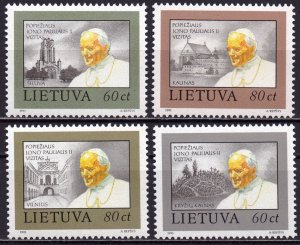 Lithuania. 1993. 533-36. Pope Paul 2. MNH.