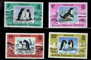 British Antarctic Territory Scott 72-75 MNH** Penguine set CV$22.50