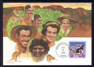US 2370 Australia Bicentennial Fleetwood Unicover Maxi Card U/A FDC