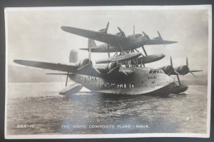 1940 London England RPPC Postcard Cover To Leicester Mayo Composite Plane Maia