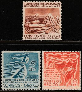 MEXICO 777-779 Agricultural Conference. MINT, NH. VF.