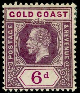 GOLD COAST SG78, 6d dull & brt purple, M MINT. Cat £13. WMK MULT CA
