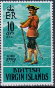 British Virgin Islands - George Lowther on stamp - Shipping 0.50 cents