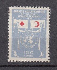 J28204 1955 turkey part of set mnh #ra185 nurses red cross