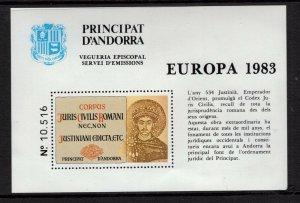 Andorra (French) 1983 Europa semi-official souvenir sheet VFMNH