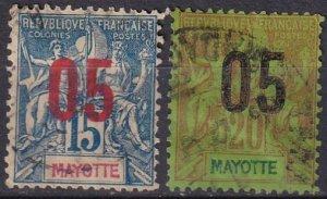 Mayotte #24-5 F-VF  Used  CV $4.40  (Z6947)