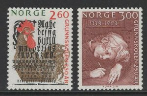 NORWAY SG1061/2 1989 250th ANNIV OF PRIMARY SCHOOLS MNH