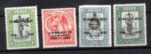 Papua 1935 Silver Jubilee mint LHM set SG150-153 WS20979