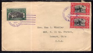 Panama to Newark,OH 1918 Cover