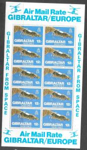 Gibraltar #36312p Gibraltar from Space sheet 10(MNH) CV$3.50