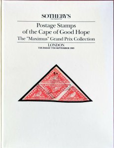 Auction Catalogue Maximus Grand Prix CAPE OF GOOD HOPE Classic Stamps Covers