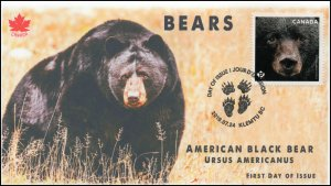 CA19-027, 2019, Canadas Bears, Pictorial Postmark, First Day Cover, Black Bear