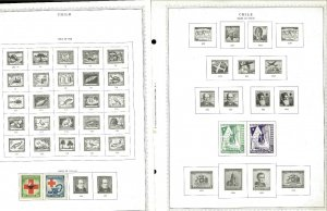 Chile 1944-1983 All Mint Hinged on Minkus Global Pages
