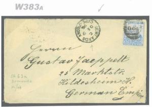 W383a 1896 COGH Newlands Numeral/GERMANY Hildesheim {samwells-covers}