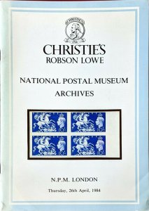 Auction Catalogue NATIONAL POSTAL MUSEUM ARCHIVES GB Bechuanaland Levant Nauru
